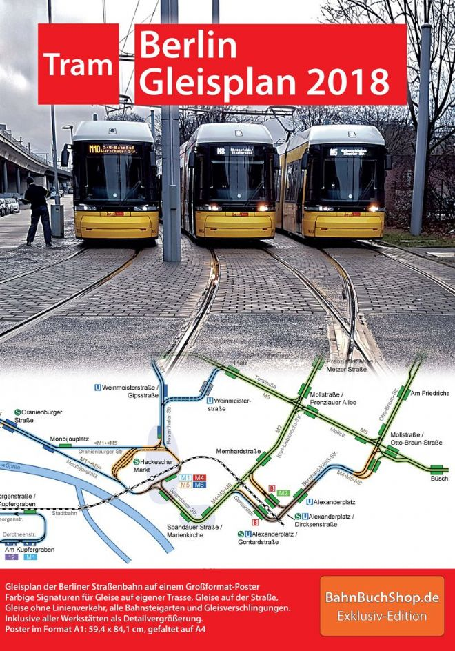 Track Plan of Berlin Trams, 2018